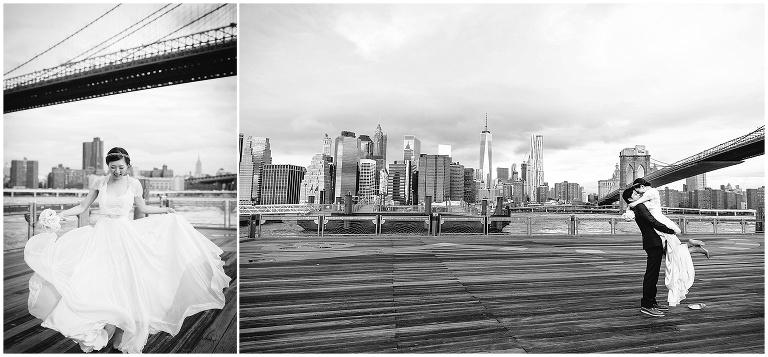 ウエディング記念撮影、ブルックリンブリッジ